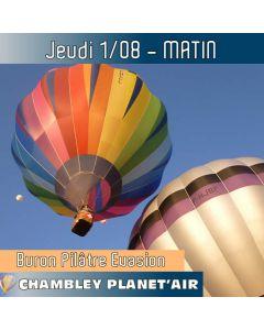 Billet de vol en montgolfière - Mondial Chambley 2019 - Vol du 01/08/2019 matin