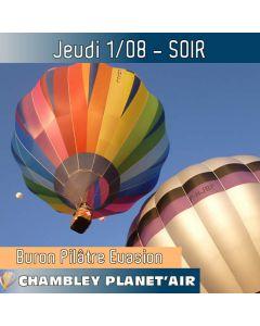 Billet de vol en montgolfière - Mondial Chambley 2019 - Vol du 01/08/2019 soir