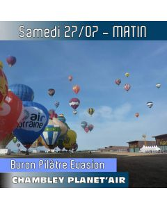 Billet de vol en montgolfière - Mondial Chambley 2019 - Vol du 27/07/2019 matin