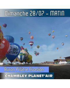 Billet de vol en montgolfière - Mondial Chambley 2019 - Vol du 28/07/2019 matin. LE VOL pour vivre « La Grande Ligne » (record du monde) en direct !