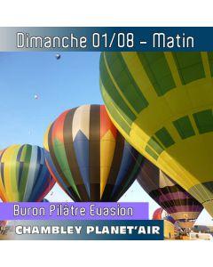 Billet de vol en montgolfière - Mondial Chambley 2021 - Vol du 01/08/2019 matin
