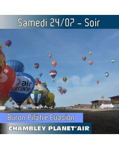 Billet de vol en montgolfière - Mondial Chambley 2021- Vol du 24/07/2021 soir