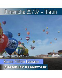 Billet de vol en montgolfière - Mondial Chambley 2021 - Vol du 25/07/2019 matin. LE VOL pour vivre « La Grande Ligne » (record du monde) en direct !