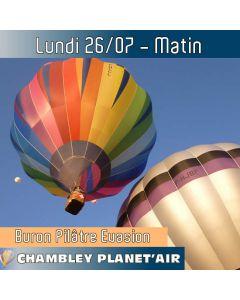 Billet de vol en montgolfière - Mondial Chambley 2021 - Vol du 26/07/2019 matin - Vivez l'expérience d'un vol hors du commun alors que la nature s'éveille...