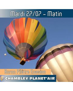 Billet de vol en montgolfière - Mondial Chambley 2021 - Vol du 27/07/2021 matin