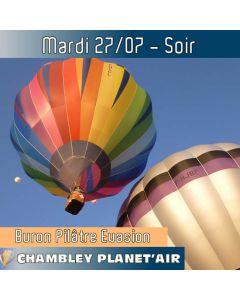Billet de vol en montgolfière - Mondial Chambley 2021- Vol du 27/07/2021 soir
