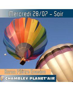 Billet de vol en montgolfière - Mondial Chambley 2021 - Vol du 28/07/2021soir