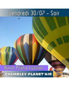 Billet de vol en montgolfière - Mondial Chambley 2021 - Vol du 30/07/2021 soir