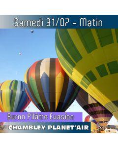 Billet de vol en montgolfière - Mondial Chambley 2021 - Vol du 31/07/2021 matin