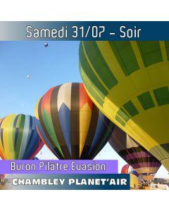 Billet de vol en montgolfière - Mondial Chambley 2021- Vol du 31/07/2021 soir