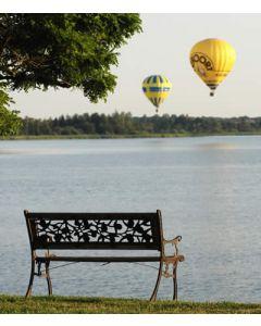 Vol en montgolfière au dessus des étangs de la chaussée