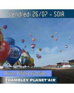 Billet de vol en montgolfière - Mondial Chambley 2019 - Vol du 26/07/2019 soir